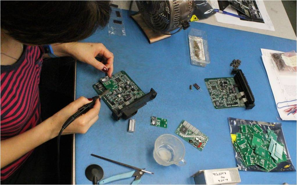 Capable, experienced hands conduct final board assembly and installation and software load and test.